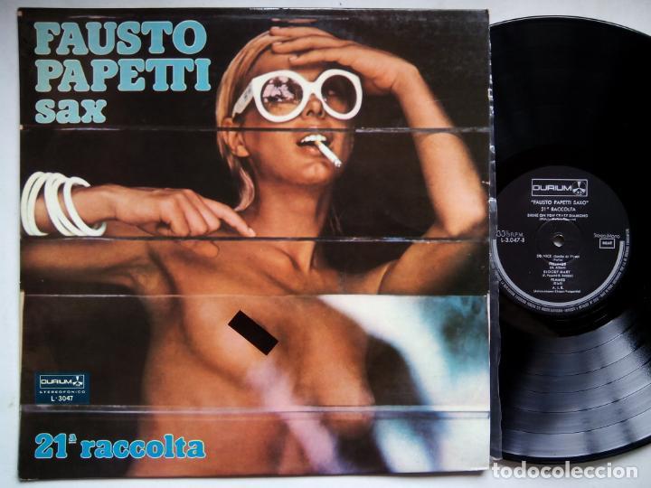 FAUSTO PAPETTI SAX. 21ª RACCOLTA. LP DURIUM L-3047. ESPAÑA 1977. NUDE COVER CENSURADA. (Música - Discos - LP Vinilo - Jazz, Jazz-Rock, Blues y R&B)