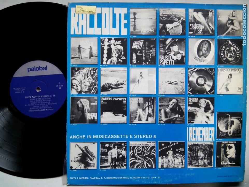 Discos de vinilo: FAUSTO PAPETTI SAX. 14ª RACCOLTA. LP DURIUM L-10258. ESPAÑA 1972. NUDE COVER. - Foto 2 - 214483883