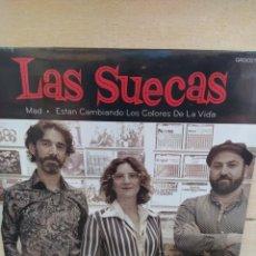 Discos de vinilo: LAS SUECAS–MAD / ESTAN CAMBIANDO LOS COLORES DE LA VIDA . SINGLE VINILO PRECINTADO. Lote 214484216