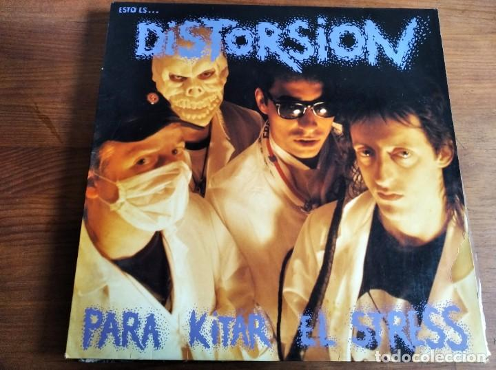 DISTORSIÓN - PAR KITAR EL STRESS ****************** RARO LP ROCK RADIKAL VASCO PUNK 1991 (Música - Discos - LP Vinilo - Punk - Hard Core)