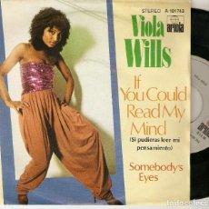"Discos de vinilo: VIOLA WILLS 7"" SPAIN 45 IF YOU COULD READ MY MIND 1980 SINGLE VINILO FUNK R&B SOUL BUEN ESTADO MIRA. Lote 214500183"