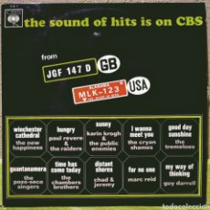 Disques de vinyle: VARIOS ARTISTAS - THE SOUND OF HITS IS ON CBS LP CBS 1967. Lote 214508992