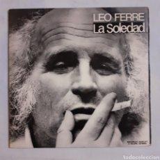 Discos de vinilo: LEO FERRE. LA SOLEDAD. GATEFOLD. S-30.098. ESPAÑA 1974. DISCO EX. CARÁTULA EX.. Lote 214511497