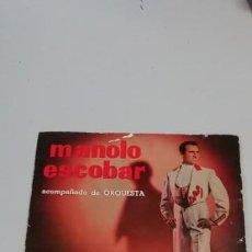 Discos de vinilo: MANOLO ESCOBAR, CUANDO MANDA EL CORAZÓN, ACOMPAÑADO DE ORQUESTA. Lote 214516765