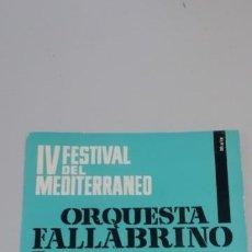 Discos de vinilo: ORQUESTA FALLABRINO – IV FESTIVAL DEL MEDITERRÁNEO. Lote 214517156
