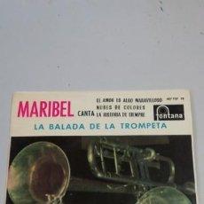 Discos de vinilo: MARIBEL - LA BALADA DE LA TROMPETA. Lote 214518052