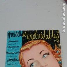 Discos de vinilo: MELODIAS INOLVIDABLES 3. GRANADA, FASCINACION, BESAME MUCHO, AQUELLOS OJOS VERDES.. Lote 214518213