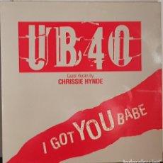 Discos de vinilo: UB40 - I GOT YOU BABE. Lote 214526160