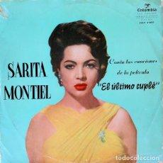 Discos de vinilo: SARITA MONTIEL – CANCIONES DE LA PELÍCULA, EL ULTIMO CUPLÉ - ?LP COLUMBIA SPAIN 1957. Lote 214536578