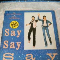 Discos de vinilo: SAY MCCARTNEY & MICHAEL JACKSON. Lote 214545936