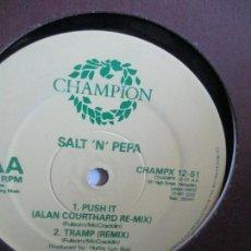 Discos de vinilo: SALT 'N' PEPA ?– PUSH IT (REMIX). Lote 214553337