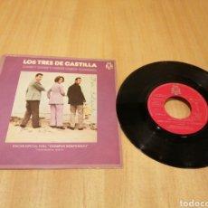 Disques de vinyle: LOS TRES DE CASTILLA. CHIRPY CHIRPY CHEEP CHEEP. CANDIDA.. Lote 214554523