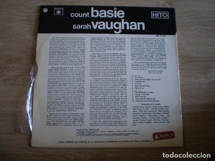 Discos de vinilo: LP. COUNT BASIE SARAH VAUGHAN. AÑO 1967. BUENA CONSERVACION - Foto 3 - 214560950