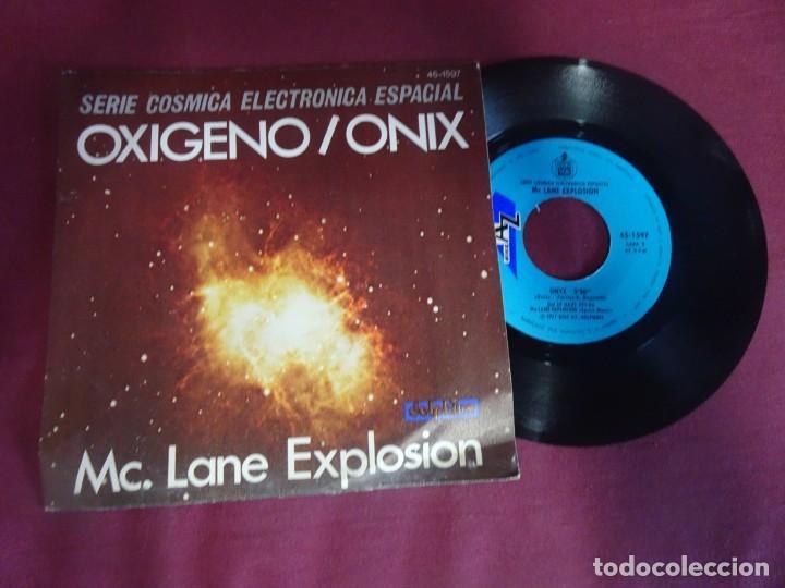 MC. LANE EXPLOSIÓN , OXÍGENO - ONIX , SERIE CÓSMICA ELECTRÓNICA ESPACIAL (Música - Discos - Singles Vinilo - Electrónica, Avantgarde y Experimental)