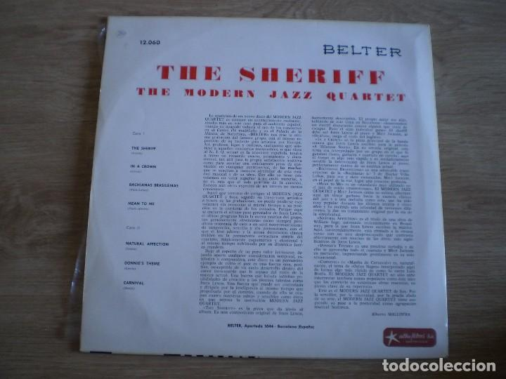 Discos de vinilo: LP. THE MODERN JAZZ QUARTET. THE SHERIFF. AÑO 1966. BUENA CONSERVACION - Foto 3 - 214561853