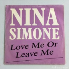 Discos de vinilo: NINA SIMONE – LOVE ME OR LEAVE ME / LITTLE GIRL BLUE PROMO SPAIN 1988 GRIND. Lote 214528246