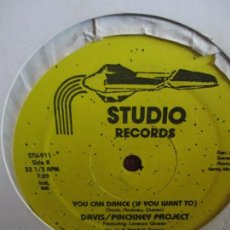 Discos de vinilo: DAVIS / PINCKNEY PROJECT FEATURING LORENZO QUEEN – YOU CAN DANCE (IF YOU WANT TO). Lote 214564987