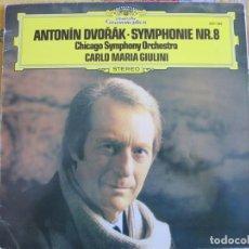 Disques de vinyle: LP - DVORAK - SINFONIA Nº 8 (SINFONICA DE CHICAGO, DR. CARLO MARIA GIULINI). Lote 214566426