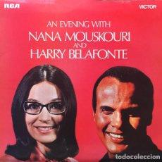 Discos de vinilo: AN EVENING WITH... - NANA MOUSKOURI & HARRY BELAFONTE (LP, 1971). Lote 214567670