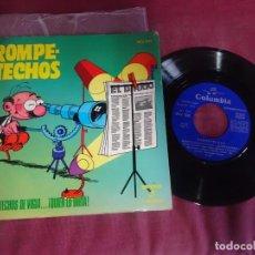 Discos de vinilo: SINGLE , DISCO TEBEO / ROMPETECHOS / ROMPETECHOS DE VIGÍA...¡QUIEN LO DIRÍA!, VER FOTOS. Lote 214567677