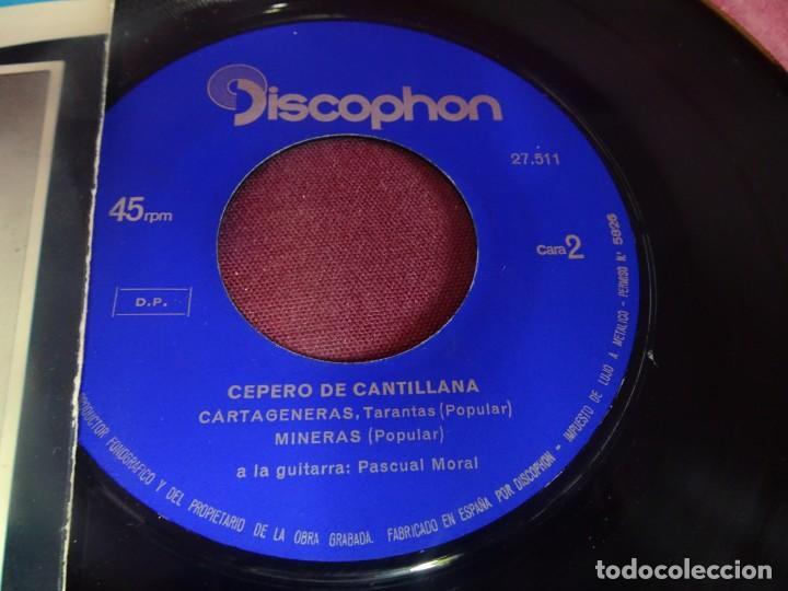 Discos de vinilo: SINGLE , CEPERO DE CANTILLANA , VER FOTOS - Foto 3 - 214569786