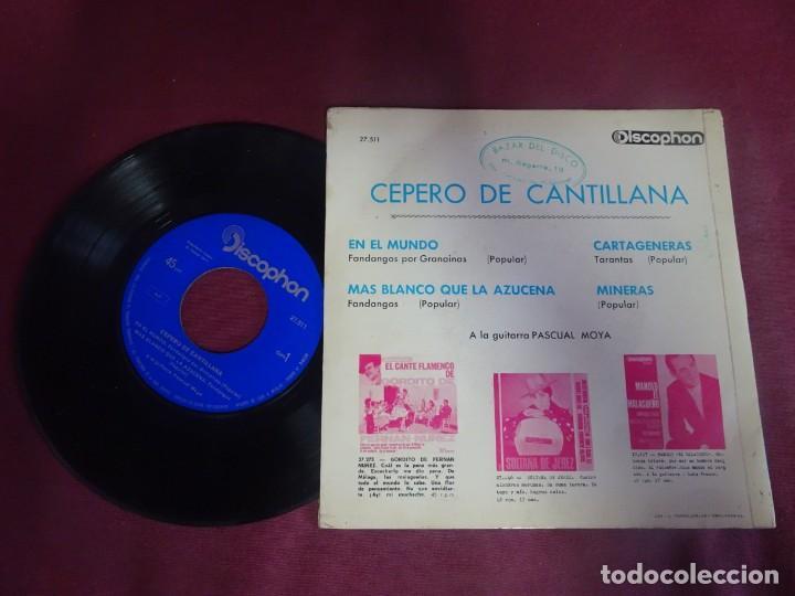 Discos de vinilo: SINGLE , CEPERO DE CANTILLANA , VER FOTOS - Foto 4 - 214569786