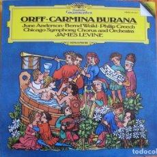 Disques de vinyle: LP - ORFF - CARMINA BURANA (SINFONICA DE CHICAGO, DR. JAMES LEVINE). Lote 214570052