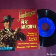 Discos de vinilo: SINGLE , PEPE MARCHENA - FANDANGOS - , BELTER, VER FOTOS. Lote 214570578