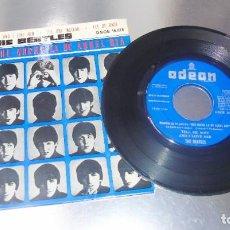 Discos de vinilo: THE BEATLES---TELL ME WHY -- 1ª EDICION ESPAÑA1964 -----LABEL AZUL FUERTE----- VG+. Lote 195492955