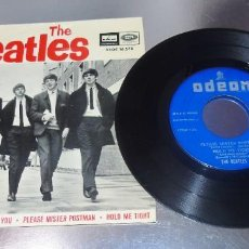 Discos de vinilo: THE BEATLES --LITTLE CHILD & PLEASE MISTER POSTMAN + 2 --- LABEL AZUL FUERTE ---( MINT ( M ). Lote 210323785
