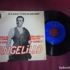 Discos de vinilo: SINGLE , ANGELILLO, LA HIJA DE JUAN SIMÓN , BSO, VER FOTOS. Lote 214571378