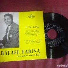 Discos de vinilo: SINGLE , RAFAEL FARINA, LA COPLA ANDALUZA Y ESE CUCHILLO MONTES / QUE ABORRECE LA QUIMERA. Lote 214572781