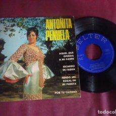 Discos de vinilo: SINGLE , ANTOÑITA PEÑUELA , AQUEL QUE OFENDA A MI PADRE, RICARDO DE FABRA, BELTER, VER FOTOS. Lote 214573048