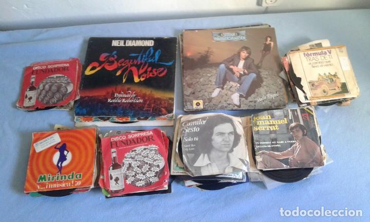 GRAN LOTE DISCOS LPS, Y SINGLES, MAS DE 150 UNIDADES, DESCARATULADOS Y COMPLETOS (Música - Discos - LP Vinilo - Otros estilos)