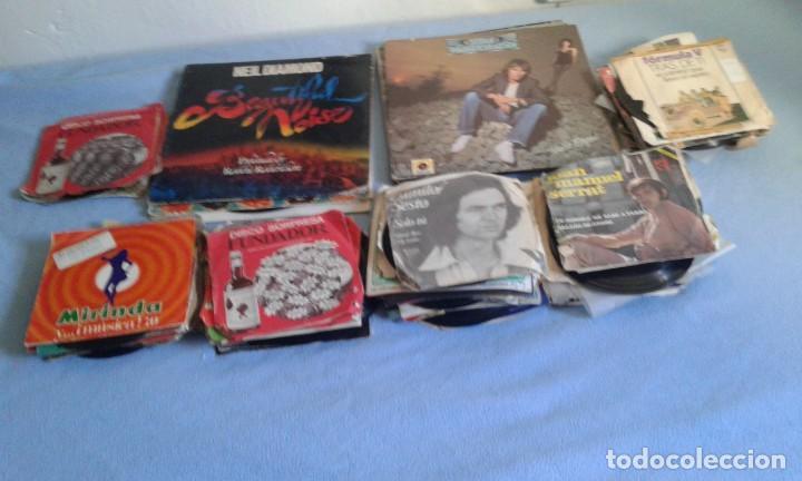 Discos de vinilo: GRAN LOTE DISCOS LPS, Y SINGLES, MAS DE 150 UNIDADES, DESCARATULADOS Y COMPLETOS - Foto 2 - 214575940