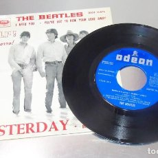 Discos de vinilo: THE BEATLES -- YESTERDAY & I NEED YOU & DIZZY MISS LIZZY & YOU´RE GO TO HIDE ----MINT ( M ). Lote 208834440