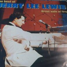 Discos de vinilo: JERRY LEE LEWIS THE BEST OF. Lote 214577291