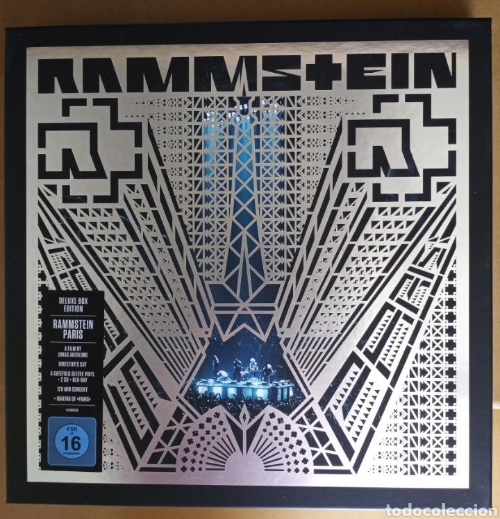 RAMMSTEIN - PARÍS - THE DELUXE BOX EDITION 4 VINILOS AZULES 2 CDS Y 1 BLUE RAY (Música - Discos - LP Vinilo - Pop - Rock Extranjero de los 90 a la actualidad)