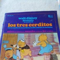Discos de vinil: LOS TRES CERDITOS. WALT DISNEY. BANDA SONORA ORIGINAL PELICULA. DISNEYLAND RECORD. Lote 214646981