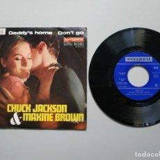 Disques de vinyle: 0820- CHUCK JACKSON MAXINE BROWN DADDYS HOME ESP 1967 VIN 7 SINGLE POR VG DIS VG+. Lote 214669120