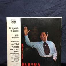 Discos de vinilo: LP RAFAEL FARINA ASI SE CANTA EN ESPAÑA SONGS FROM SPAIN REY GITANO LATIN INTERNATIONAL CALIFORNIA. Lote 214674280