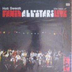 Discos de vinilo: HOT SWEAT THE BEST OF FANIA ALL STARS LIVE SALSA BOOGALOO LATIN JAZZ FUNK ESPAÑA 2005 2 LP VG++. Lote 214675267