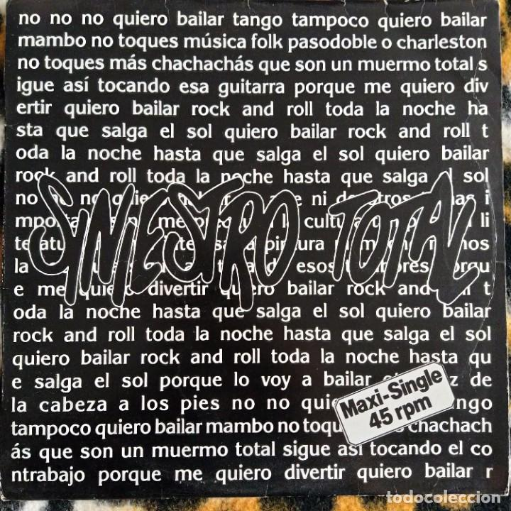 """SINIESTRO TOTAL - QUIERO BAILAR UN ROCK & ROLL (12"""") (DRO) 2D-310 (1987) (VG+) (Música - Discos de Vinilo - Maxi Singles - Grupos Españoles de los 70 y 80)"""