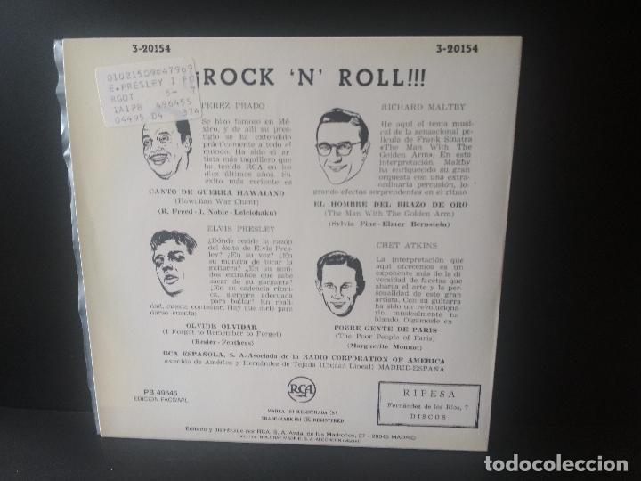 Discos de vinilo: ELVIS PRESLEY Y OTROS. ROCK AND ROLL EP SPAIN 1987 PEPETO TOP - Foto 2 - 214756651