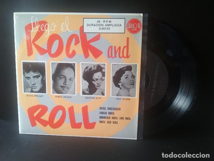 ELVIS PRESLEY Y OTROS LLEGO EL ROCK AND ROLL EP SPAIN 1987 PEPETO TOP (Música - Discos de Vinilo - EPs - Rock & Roll)