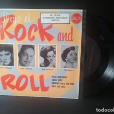 Discos de vinilo: ELVIS PRESLEY Y OTROS LLEGO EL ROCK AND ROLL EP SPAIN 1987 PEPETO TOP. Lote 214756777