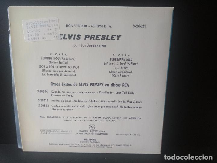 Discos de vinilo: ELVIS PRESLEY LOVING YOU + 3 EP SPAIN 1987 PEPETO TOP - Foto 2 - 214757205