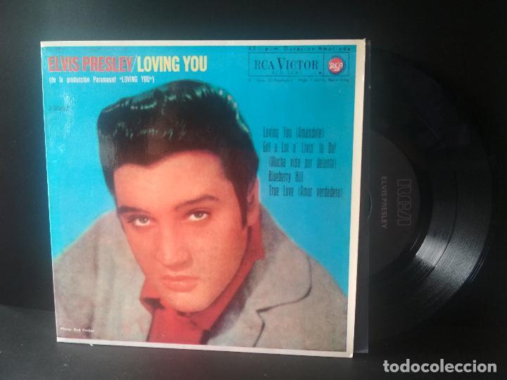 ELVIS PRESLEY LOVING YOU + 3 EP SPAIN 1987 PEPETO TOP (Música - Discos de Vinilo - EPs - Rock & Roll)