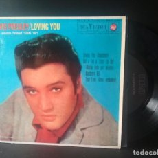 Discos de vinilo: ELVIS PRESLEY LOVING YOU + 3 EP SPAIN 1987 PEPETO TOP. Lote 214757205