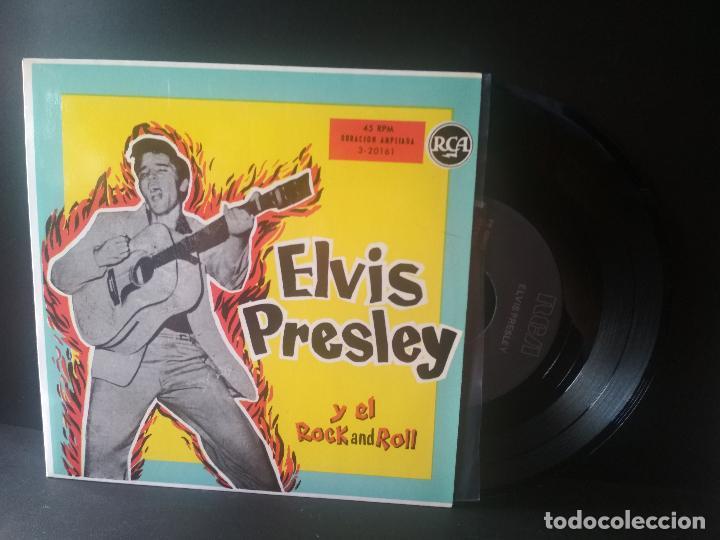 ELVIS PRESLEY ELVIS PRESLEY Y EL ROCK & ROLL EP SPAIN 1987 PEPETO TOP (Música - Discos de Vinilo - EPs - Rock & Roll)